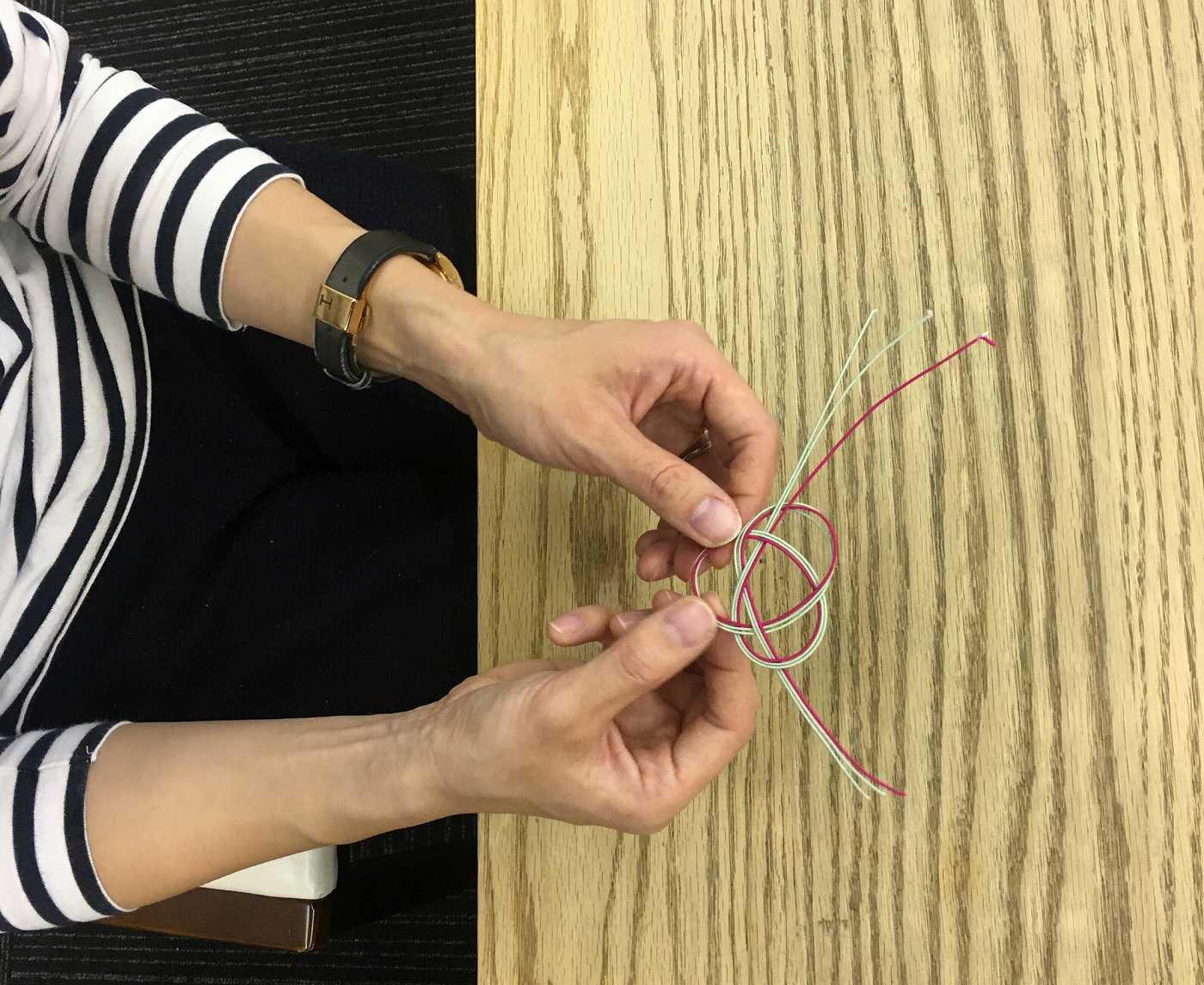 Japanese traditional Mizuhiki crafting
