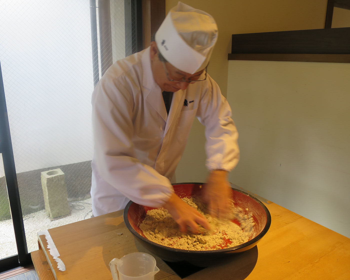 Soba noodle making and tasting with a master at a traditional Japanese restaurant